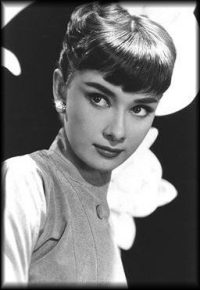 Audrey Hepburn in Black and White Photo